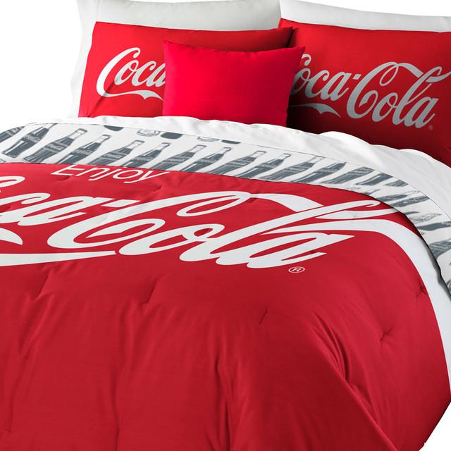Coca Cola Logo Bedding Set Coke Comforter Sheets Shams
