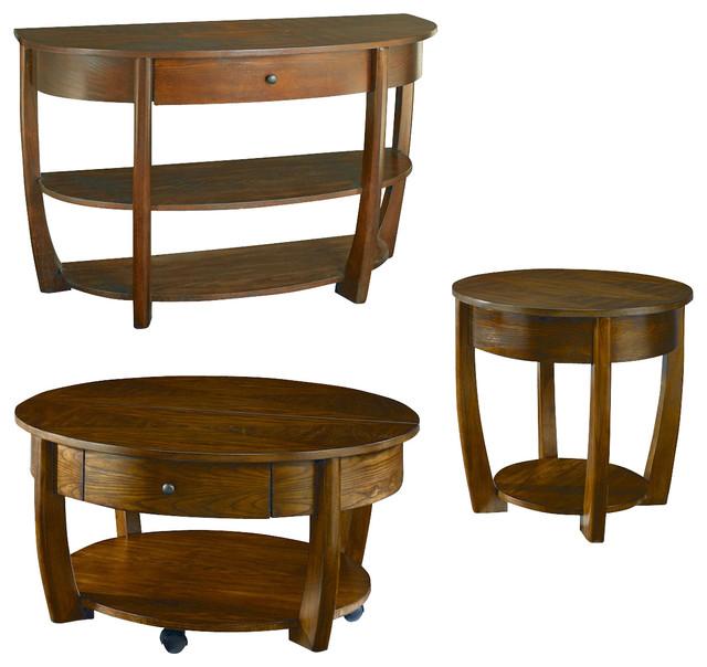 Hammary Concierge Round 3-Piece Coffee Table Set