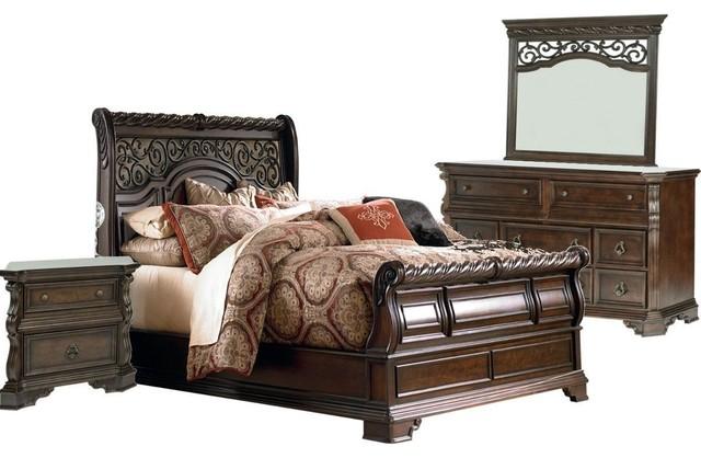 Liberty Furniture Arbor Place Sleigh Bedroom Set Mediterranean Bedroom Furniture Sets By
