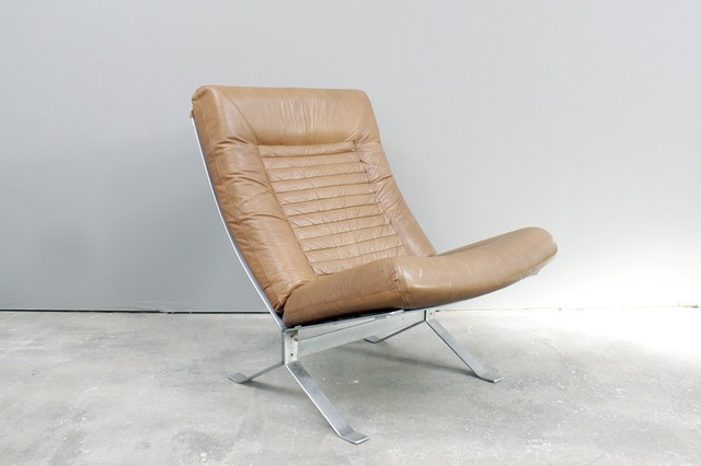 70s Italian Steel Leather Lounge Chair Traditional Armchairs And Accent Chairs