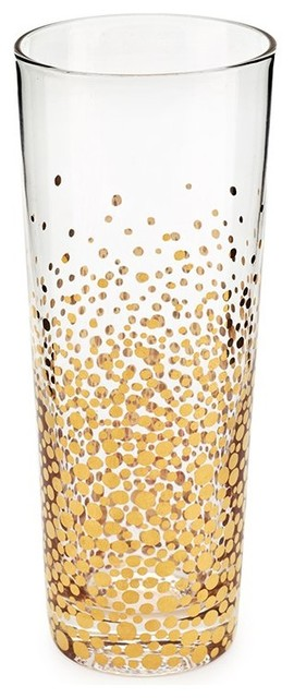 Bubbly Gold Champagne Flutes, Set of 4ContemporaryEveryday