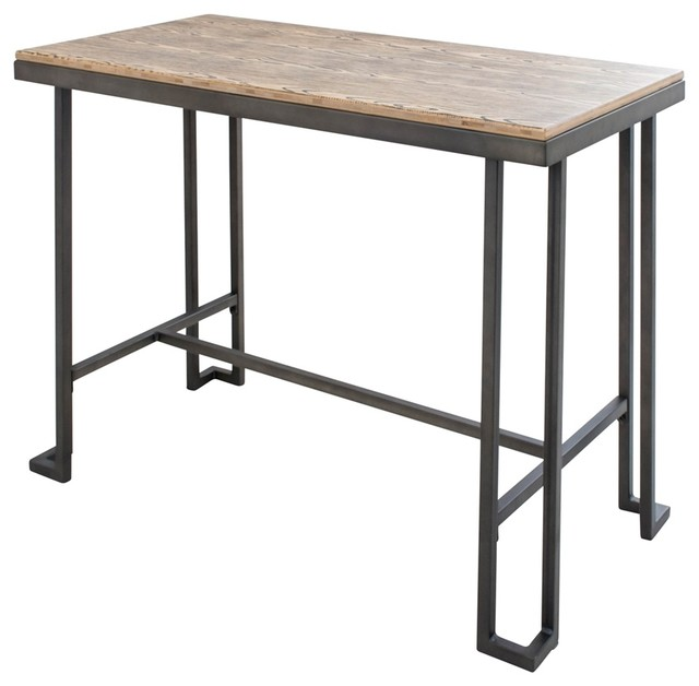 Roman Table, Antique Brown Industrial Indoor Pub And Bistro Tables