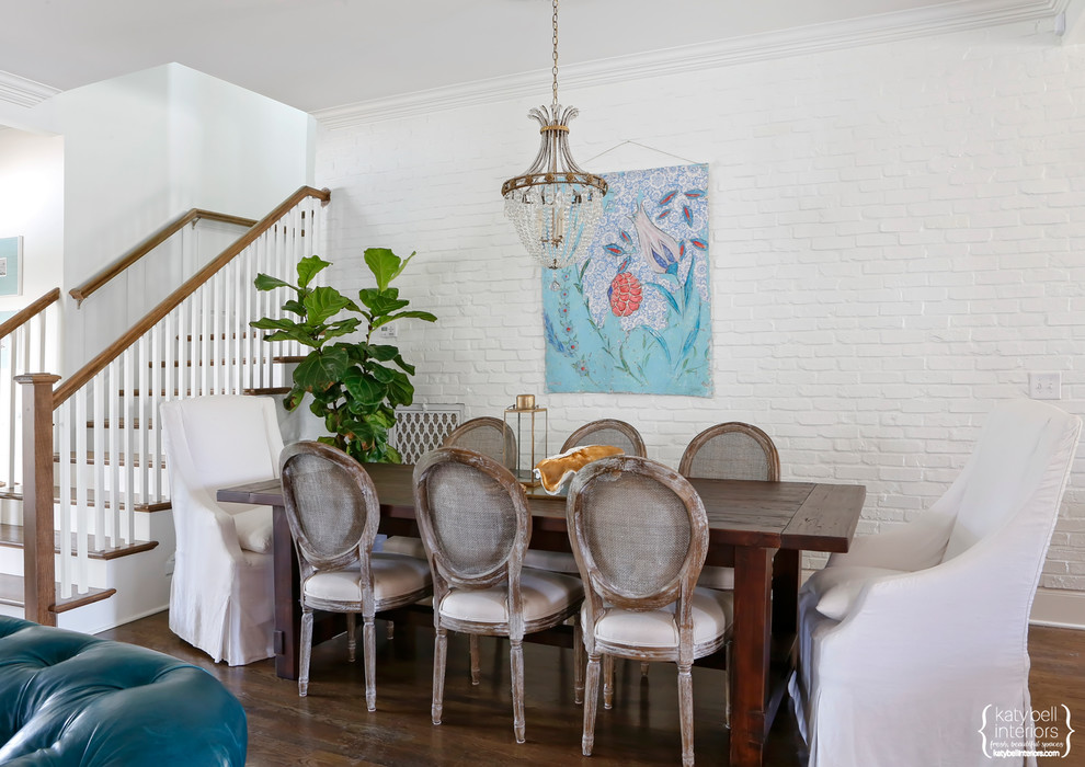 Painted Brick Dining Room