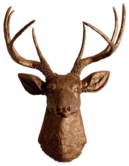 Faux Resin Deer Head Wall Mount Contemporary Wall
