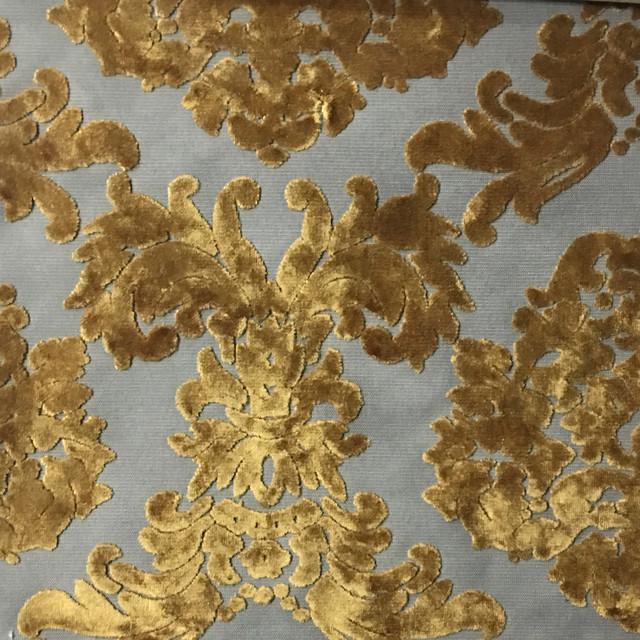 Florence Palace Damask Velvet Upholstery Fabric Yard