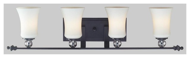 Bathroom Vanity Lights Black Finish : Z-LIte 4-Light Vanity in Black Finish - Bathroom Vanity Lighting Houzz