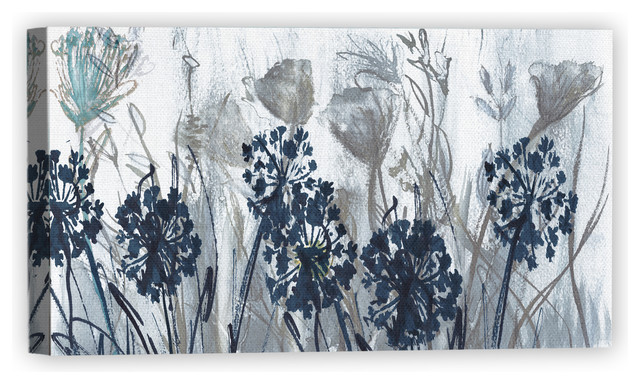 Indigo Field By Susan Jill Wrapped Canvas Art Painting Print Farmhouse Prints And Posters By Fine Art Canvas