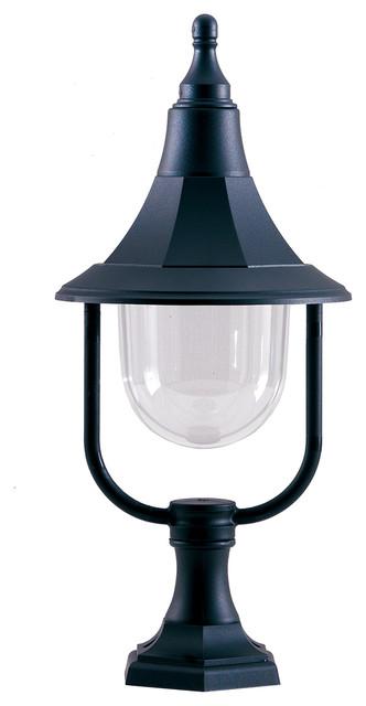 Outdoor Pedestal, Black Polycarbonate