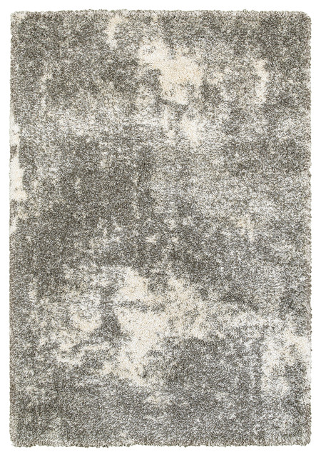Hartley Granite Light Gray And Ivory Area Rug, 7&x27;10x10&x27;10.
