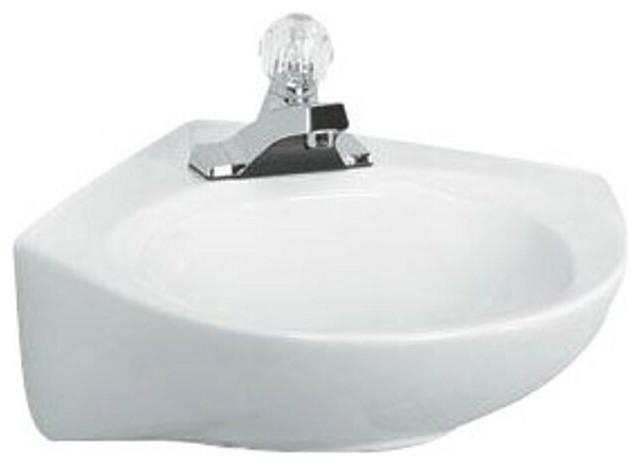 American Standard 0611.004.020 Cornice 4-Feet Wall-Hung Lavatory Sink, White.