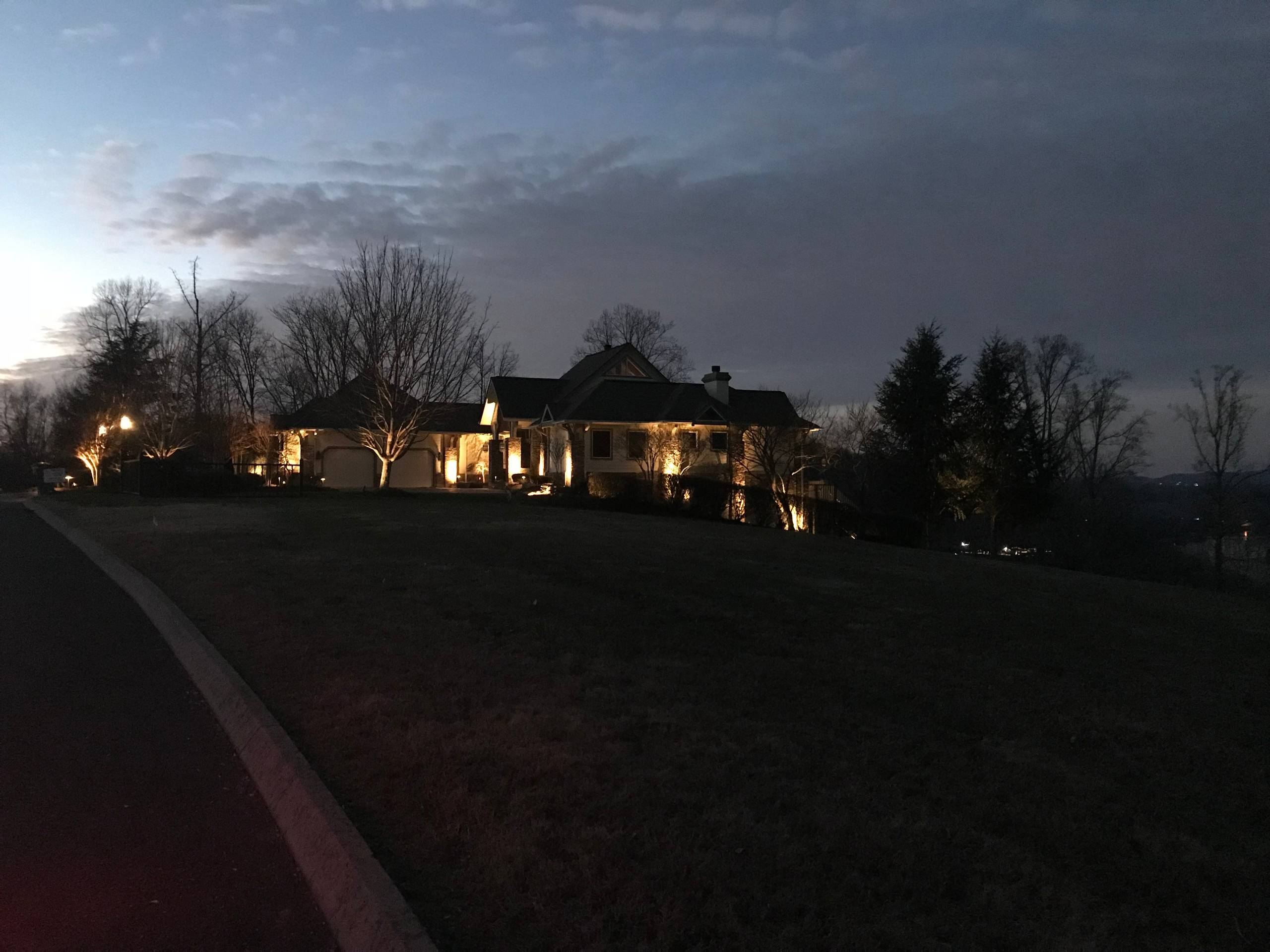 Front Yard Landscape and Lighting
