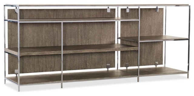 Hooker Furniture Storia Low Bookcase, Greige.