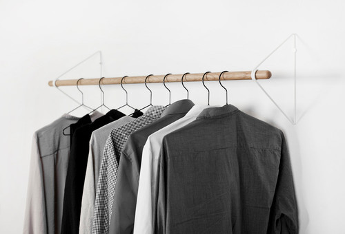 Hanging Clothes Rod From Slanted Ceiling.