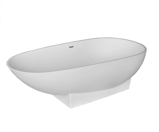 Ancona 37 X 72 Artificial Stone Soaker Freestanding Bathtub With.
