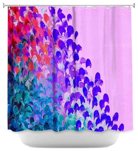 Shower Curtain Unique From Dianoche Designs Creation In Color Very Berry Modern Shower