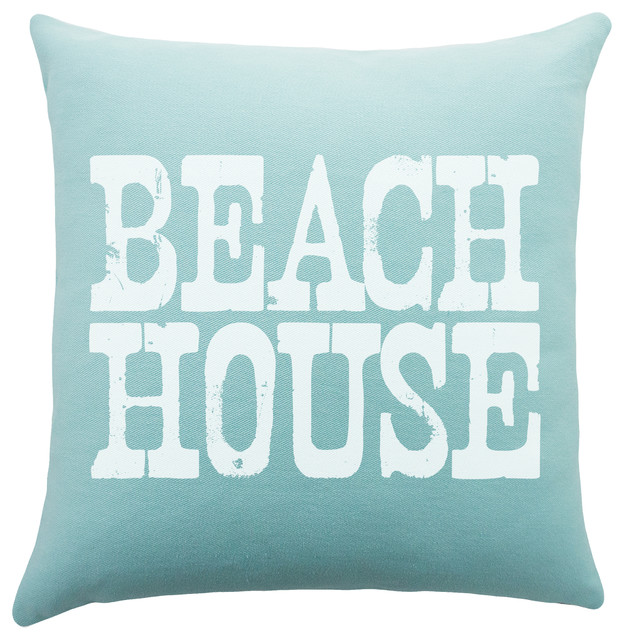 Beach Style Pillows : Beach House Pillow - Beach Style - Decorative Pillows - by TheWatsonShop