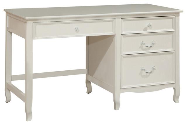 Emma Pedestal Desk, White.
