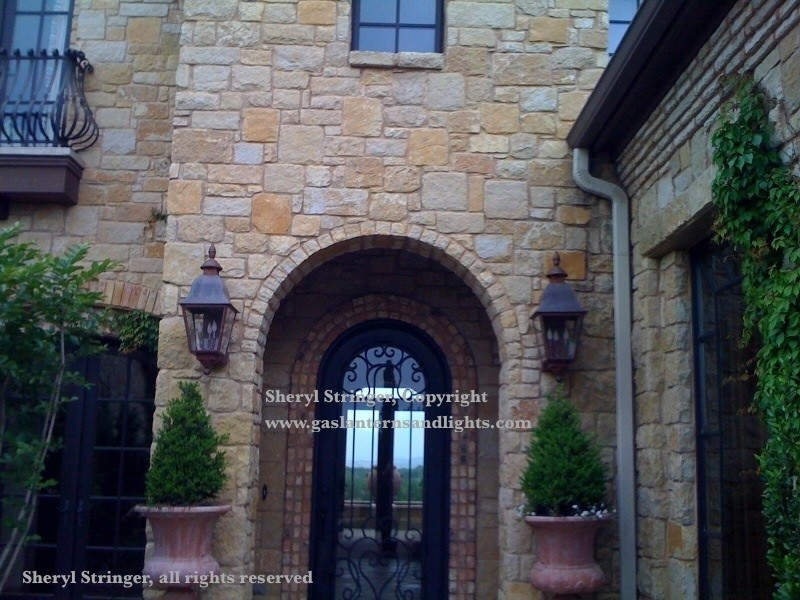 Sheryl's Electric Tuscan Lanterns with Natural Copper Finish