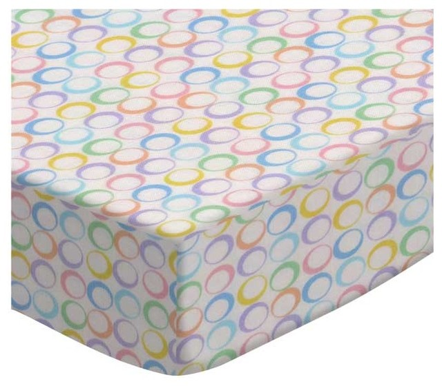 SheetWorld Pastel Colorful Rings Woven Fabric, By The Yard