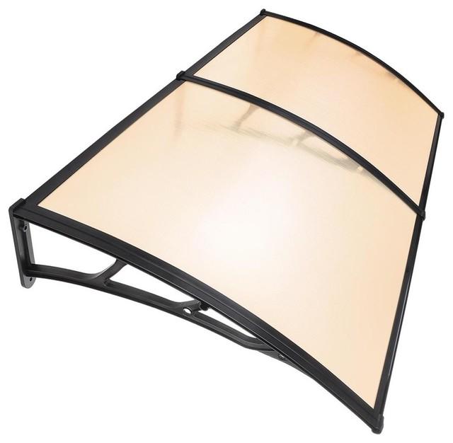 "Polycarbonate Hollow Sheets, 40""x80"", Brown/Black Trim, 1 -Piece"