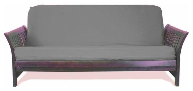 Solid Futon Cover Slipcover Fit 6 8 Mattresses Dark Gray