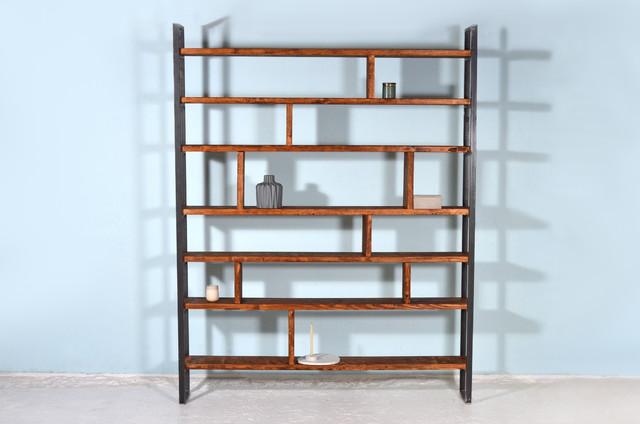 regal aus ger stbretter eisen roermond industrial regale sonstige von johanenlies. Black Bedroom Furniture Sets. Home Design Ideas