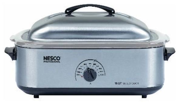 Nesco 18-Quart Stainless Steel Roaster Oven.