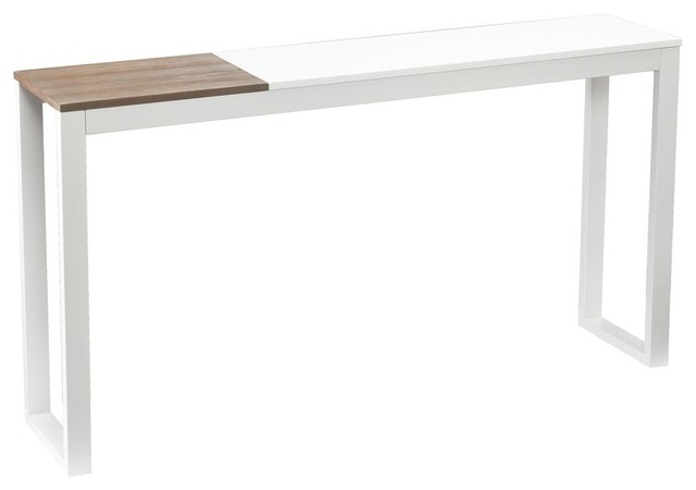 Lydock console table in white contemporary console tables by