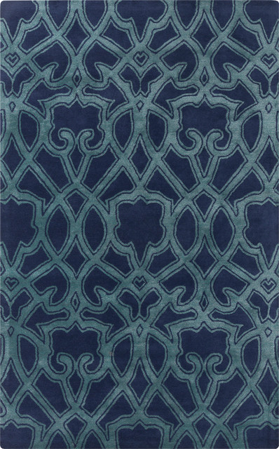 Surya surya mount perry mtp 1022 navy teal rug view for Navy and teal rug