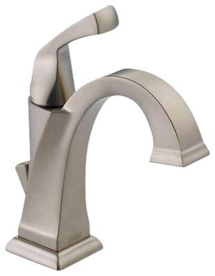Delta dryden single handle vessel faucet contemporary - Delta contemporary bathroom faucets ...