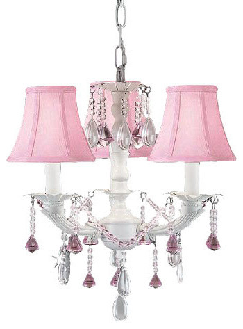 White chic crystal chandelier lighting with pink shades white chic crystal chandelier lighting with pink shades mozeypictures Images