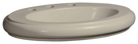"""Danze DC017118 Orrington 24"""" Drop, Bathroom Sink, Biscuit"""
