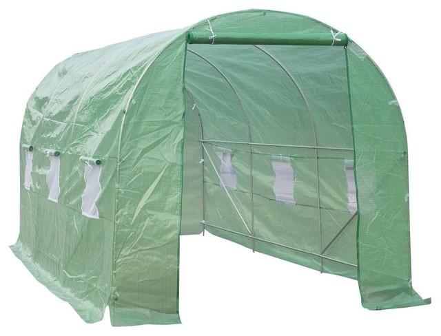 15&x27;x7&x27;x7&x27; Outdoor Portable Walk-In Greenhouse With Windows.