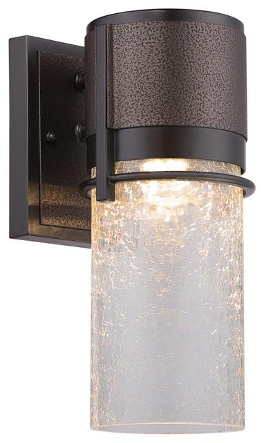 Baylor 1-Light Outdoor Wall Lights, Burnished/flemish Bronze.