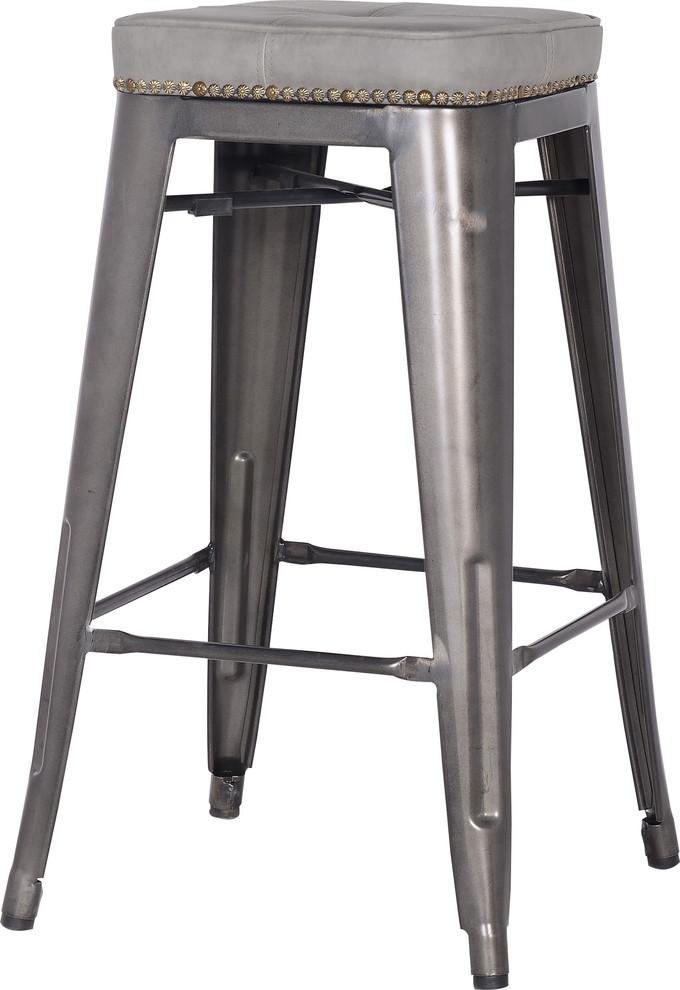 Marvelous Metropolis Metal Backless Counter Stools Set Of 4 Vintage Mist Gray Creativecarmelina Interior Chair Design Creativecarmelinacom