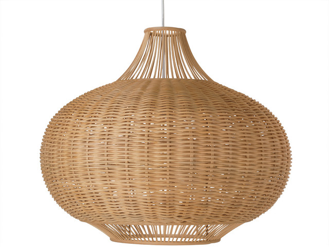 Wicker Pear Shaped Pendant Lamp, Extra Large