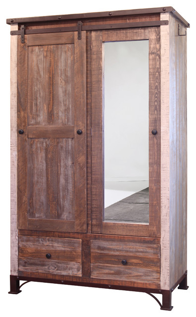 Bays Wardrobe Armoire Multicolored Finish Farmhouse Armoires And Wardrobes By Crafters Weavers