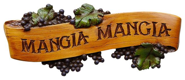 Italian Mangia Mangia Kitchen Sign