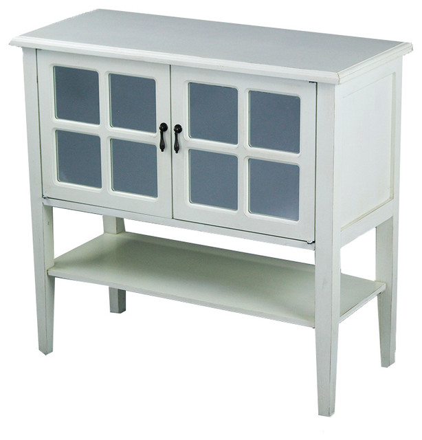 Charmant Vivian 2 Door Console Cabinet With Mirror Inserts   Farmhouse   Console  Tables   By Heather Ann Creations