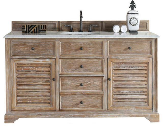 James Martin Furniture 60 Vanity Cabinet Driftwood Reviews Houzz