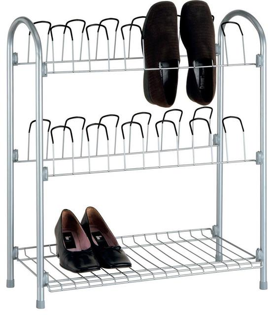 Wire Shoe Organizer With Storage Shelf