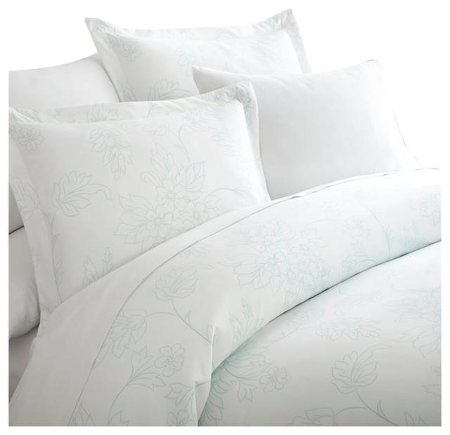 3 Piece Polka Dot Patterned Duvet Cover Set Premium Hotel Collection
