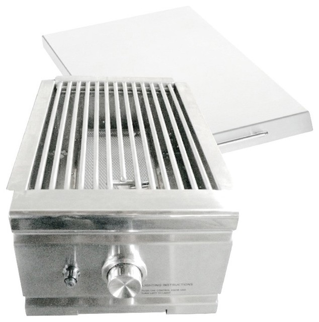 15,000 Btu Infrared Stainless Steel Searing Side Burner For Natural Gas Grills.
