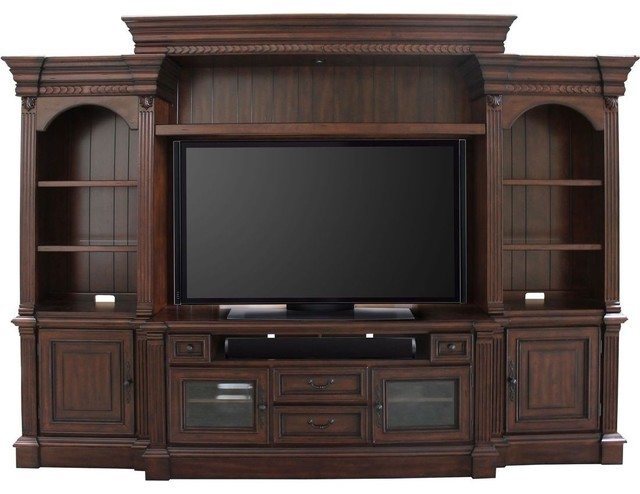 Parker House Franklin 4-Piece Entertainment Wall In Vintage Umber.