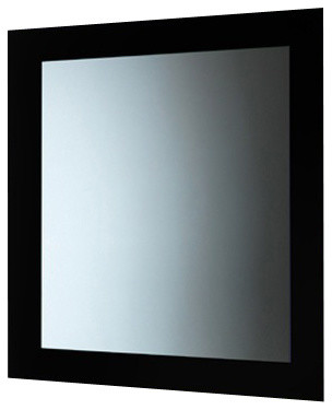 Bathroom Mirrors Black Frame mirror with frame, black - contemporary - bathroom mirrors -