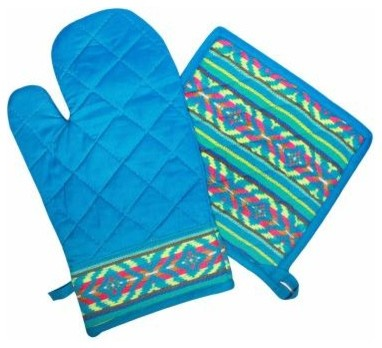 Oven Mit and Pot Holder Set - Southwestern - Oven Mitts And Pot Holders - by Casa Amarosa