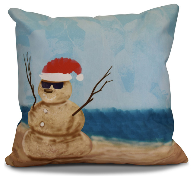Decorative Outdoor Holiday Pillow Beach Style