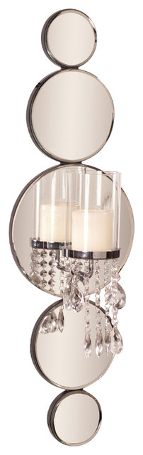 Mirrored Wall Sconce howard elliott mirrored wall sconce - contemporary - wall sconces