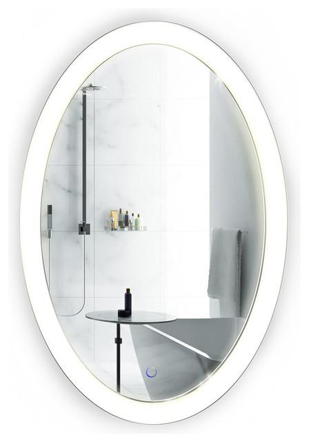 Bathroom Mirrors Oval oval led mirror - modern - bathroom mirrors -krugg reflections