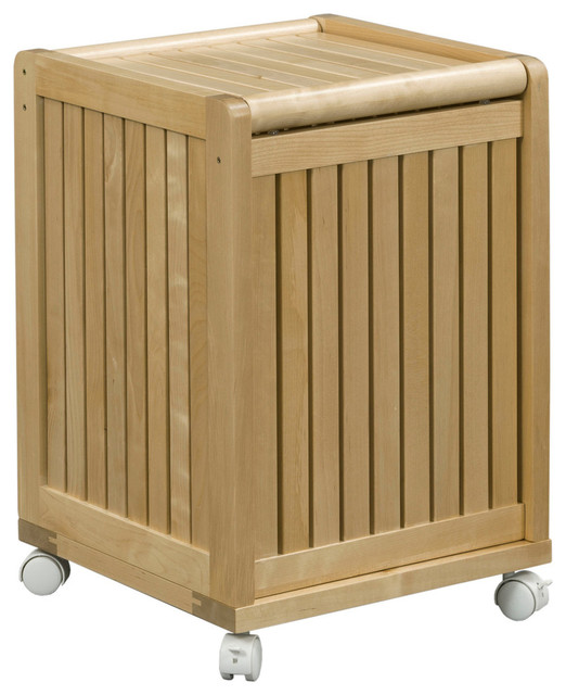 Abingdon mobile hamper with lid contemporary hampers by new ridge home goods - Modern hamper with lid ...